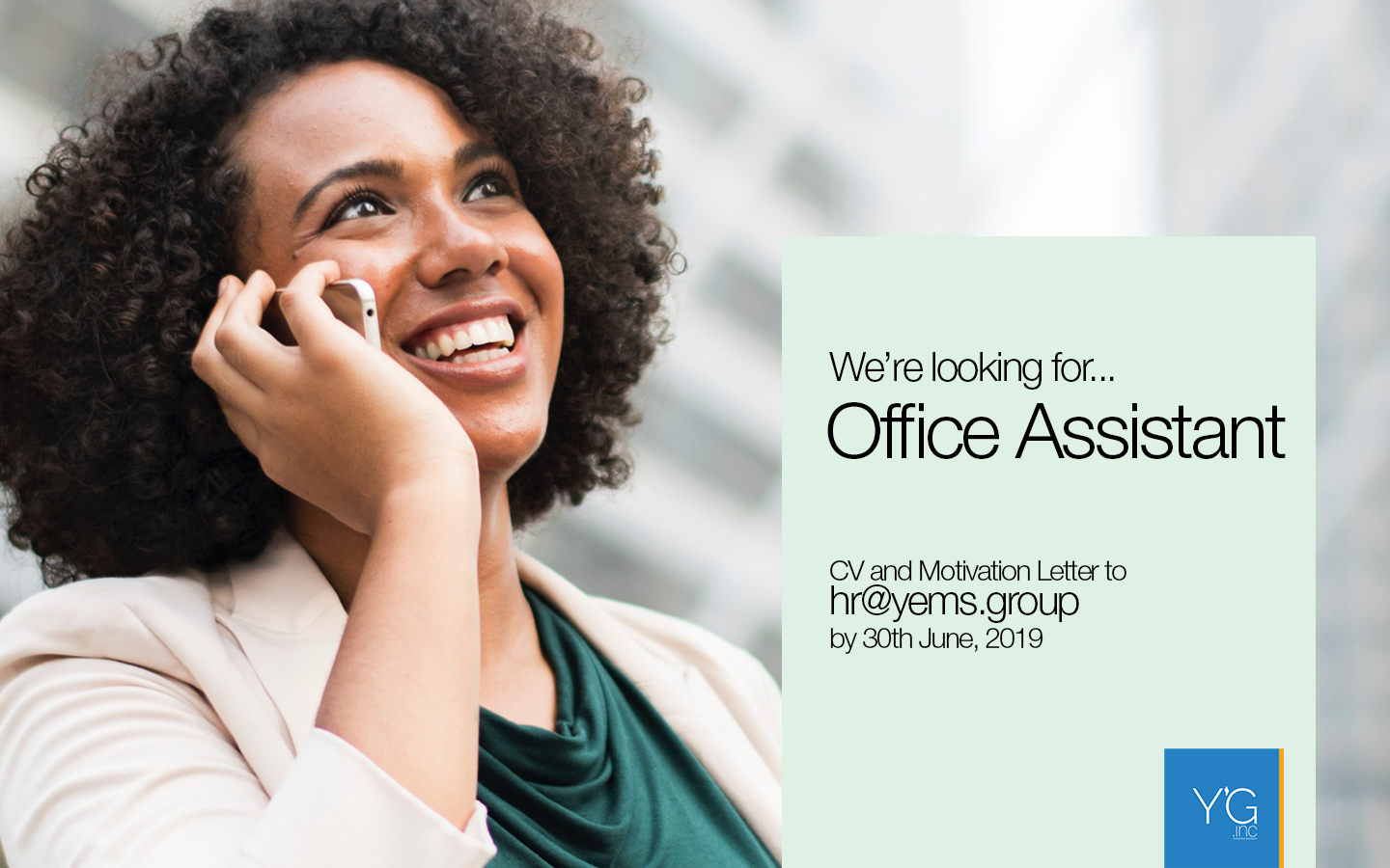 We're Looking for an Office Assistant